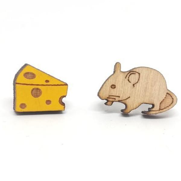 Mouse and Cheese Studs