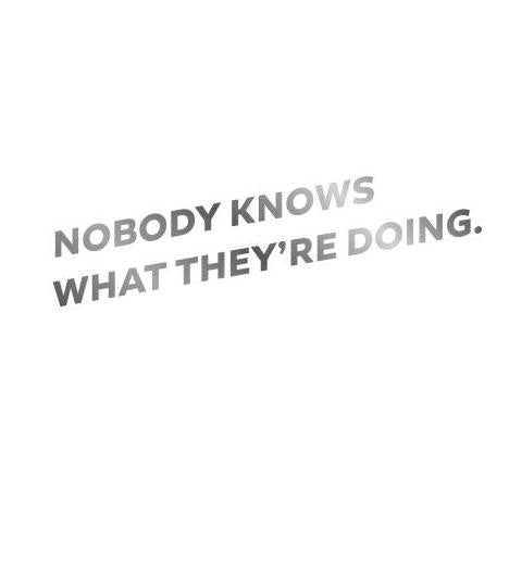 Nobody Knows Letterpress Card