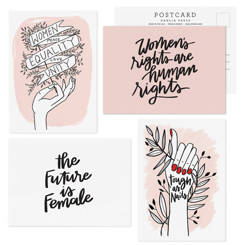 WOMEN TAKE ACTION - SET OF 8 POSTCARDS
