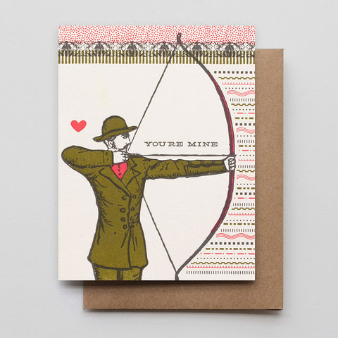 You're Mine Archer Card - Man