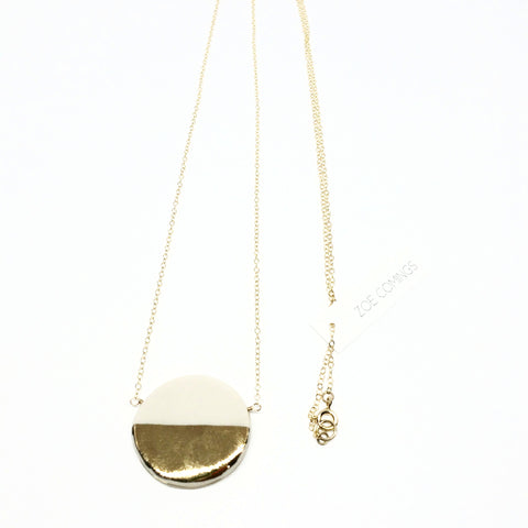 Large Pebble Gold Necklace