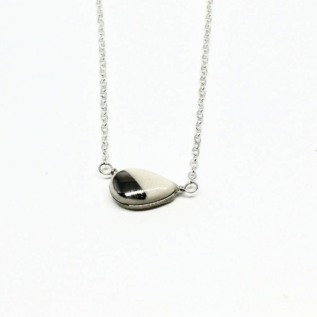 Teeny Seed White Gold Necklace