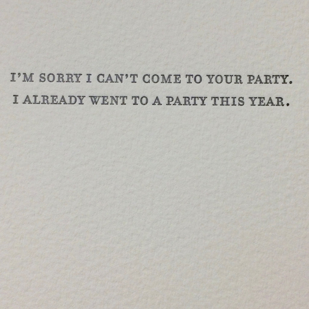 Party Decline Card