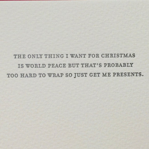 Presents Letterpress Card
