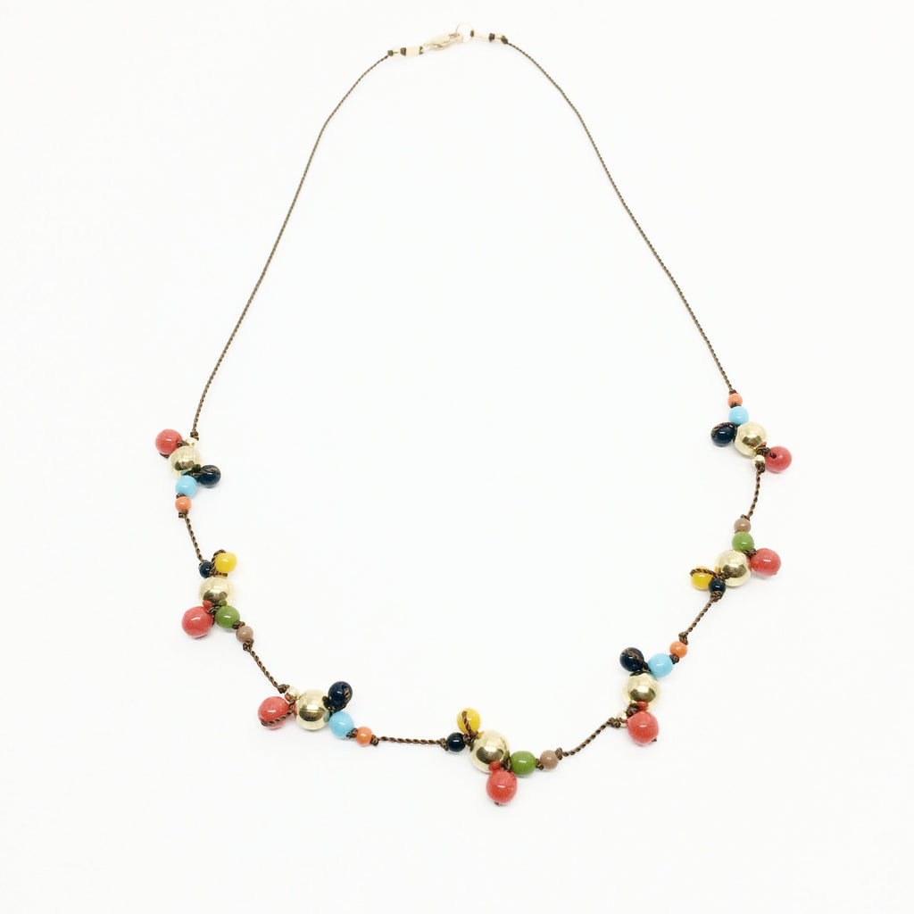 Multi cluster Bubble Glass Necklace