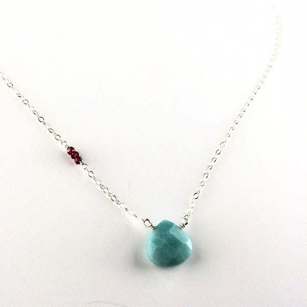 Single Stone Necklace Amazonite