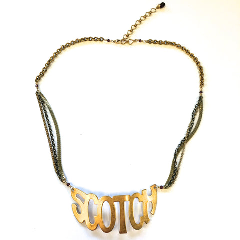 One of a Kind Scotch Necklace