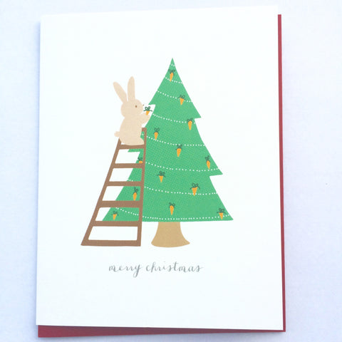 Christmas Bunny Card