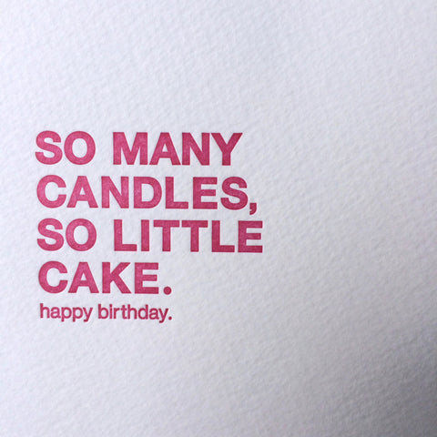 Candles Birthday Letterpress Card