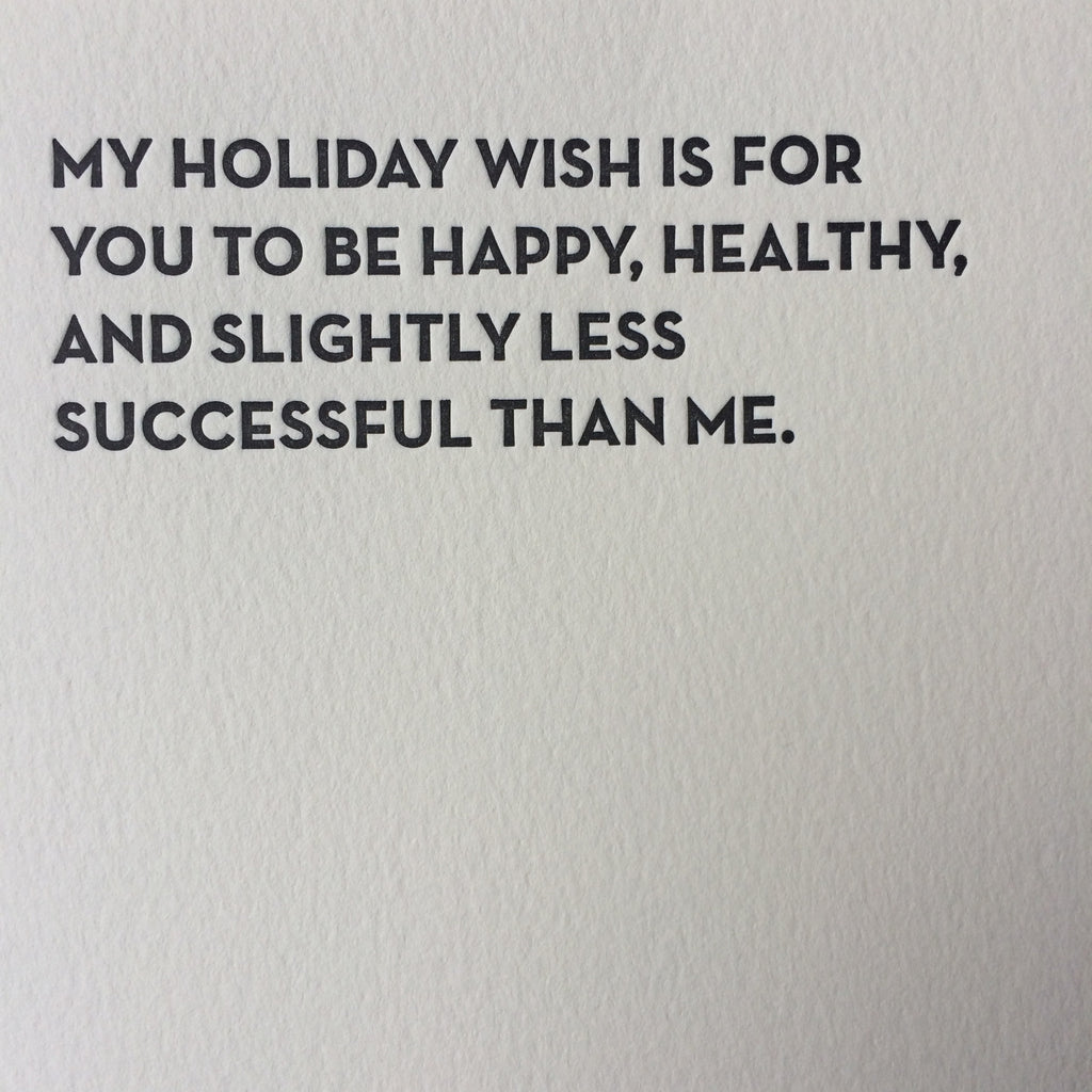 Holiday wish (gold envelope)
