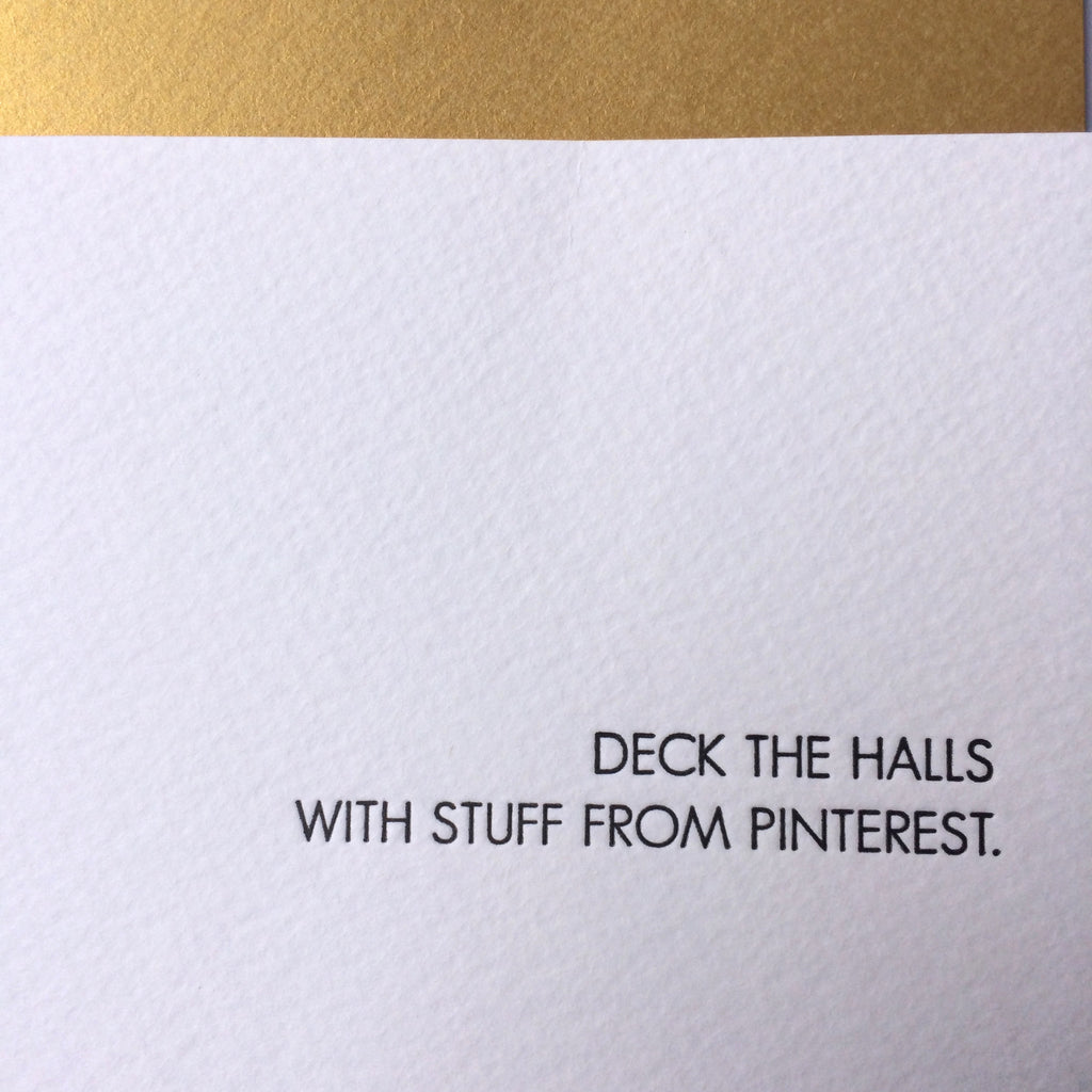 Pinterest Holiday Card (gold envelope)