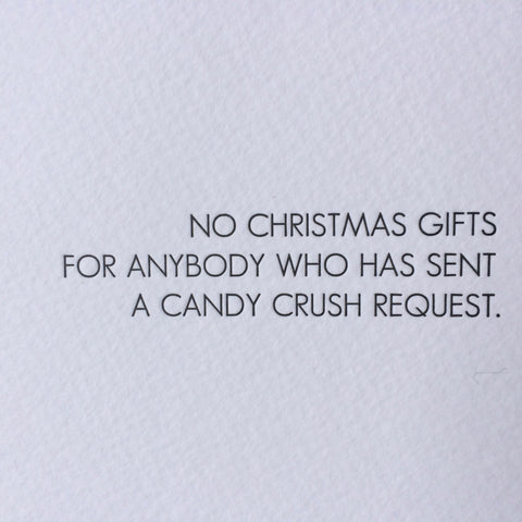 Holiday Letterpress Card - Candy Crush
