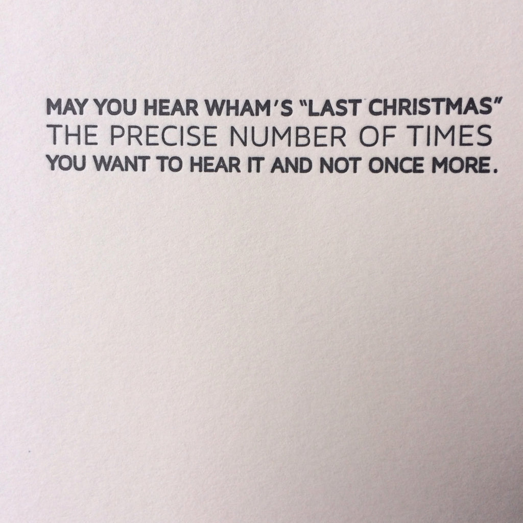 Wham Holiday Letterpress Card - Box of 6
