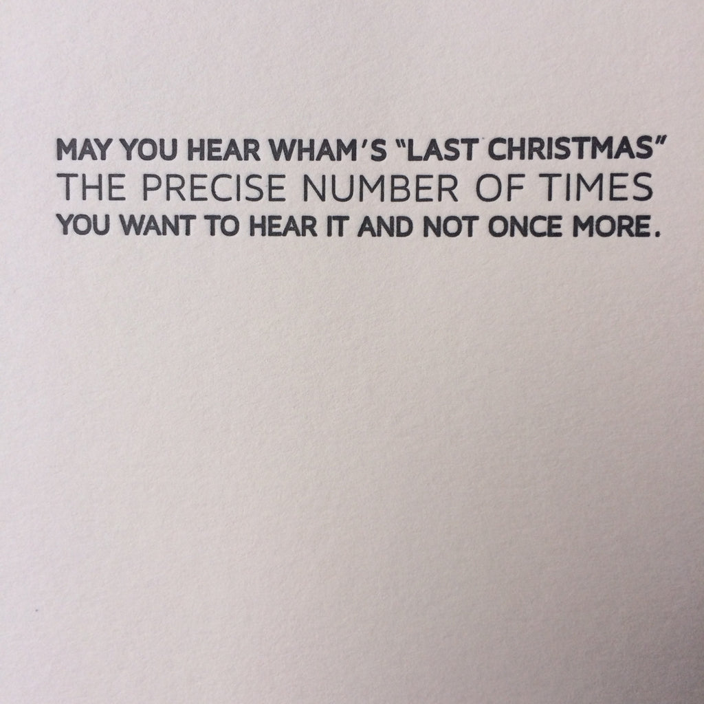 Wham Holiday Letterpress Card