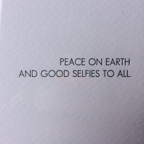 Selfies Holiday Letterpress Card - Box of 6