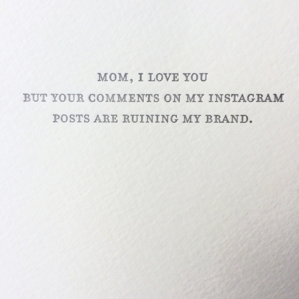 Mom Instagram Card