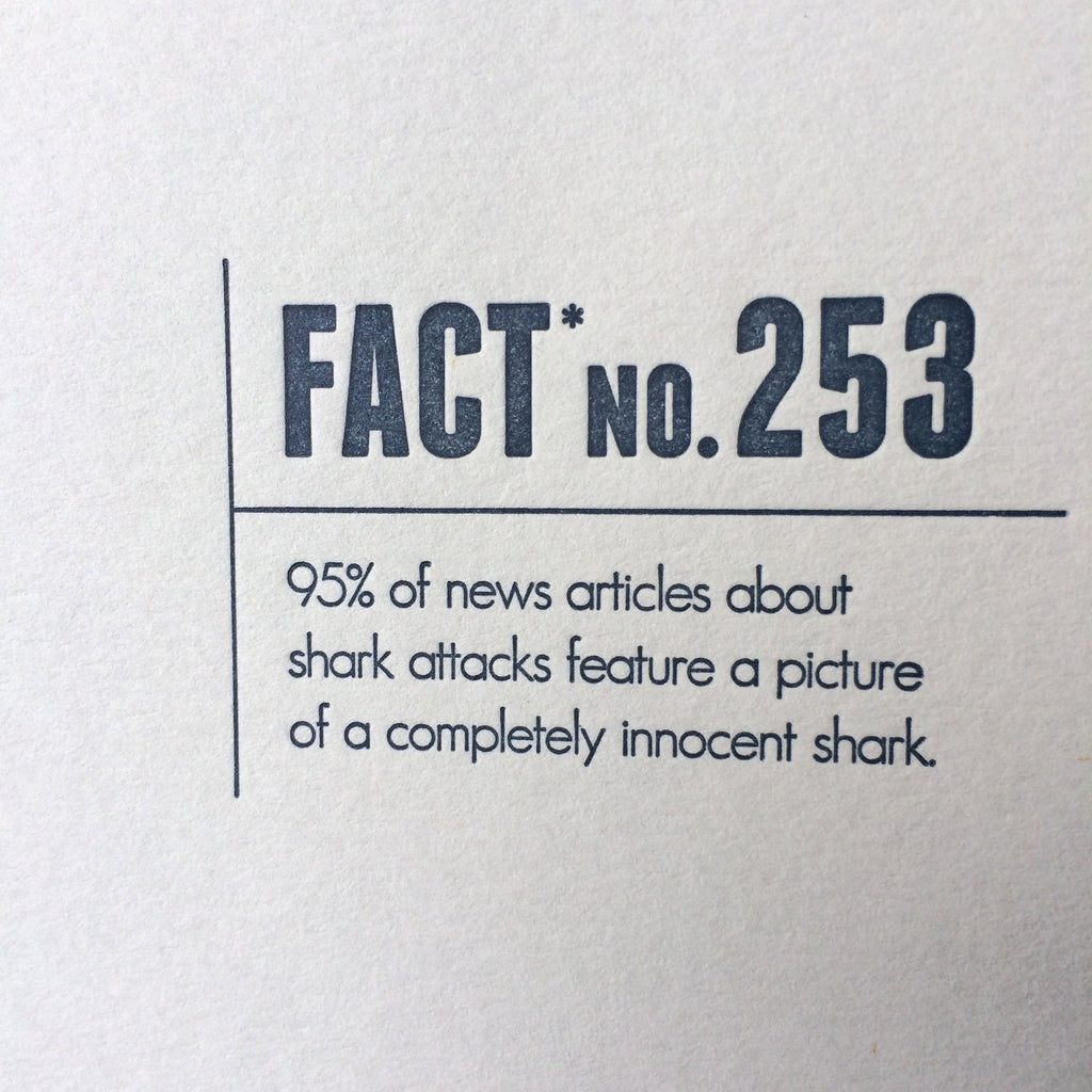 Shark Letterpress Card