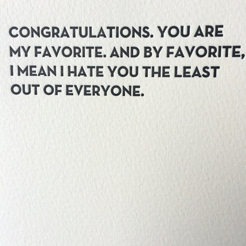 Favorite Letterpress Card