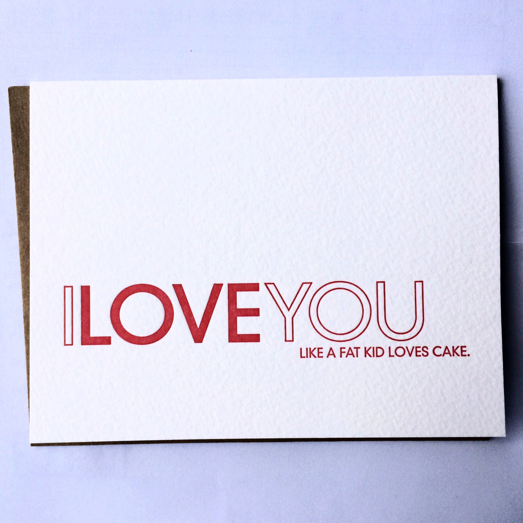 Cake Love Letterpress Card