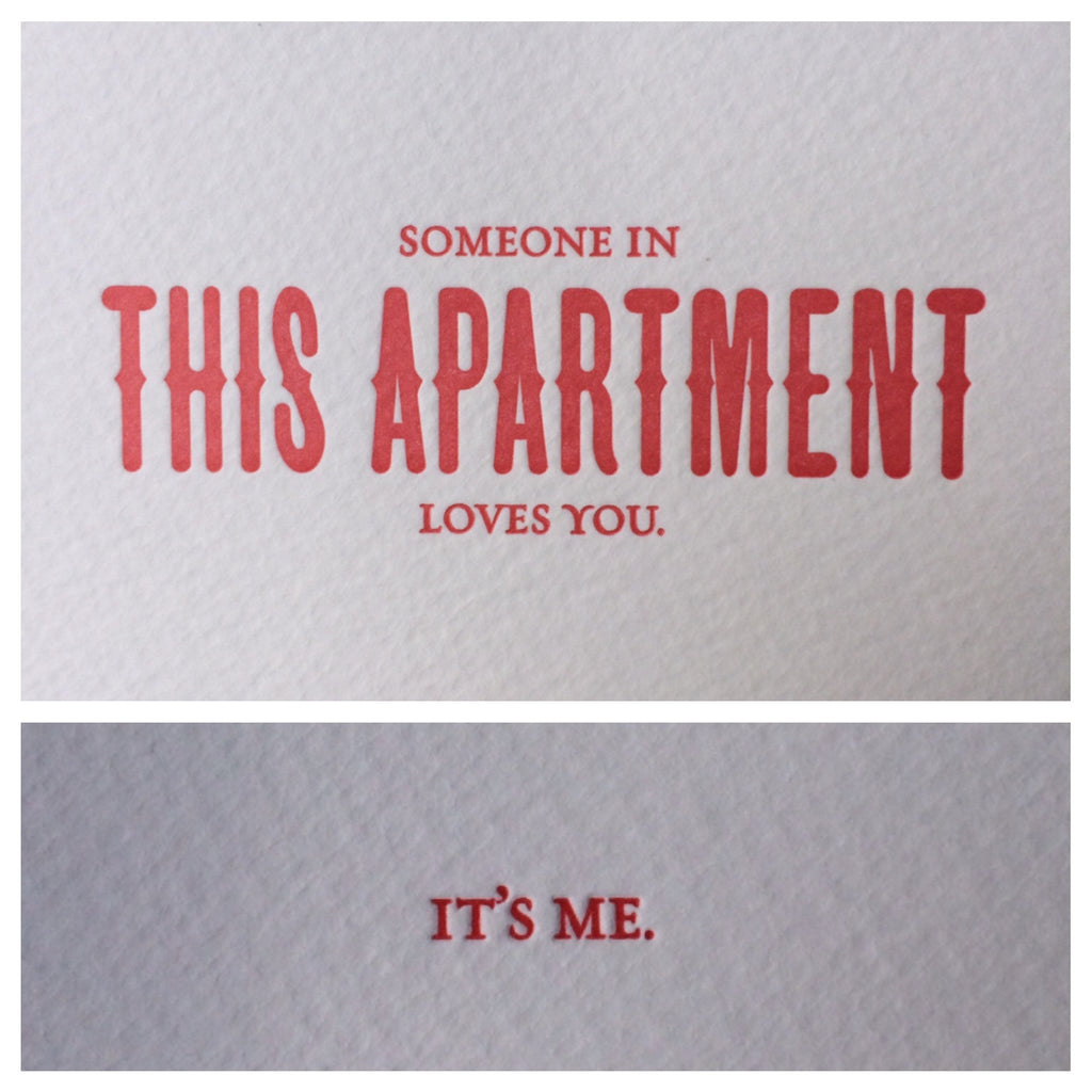 This Apartment Letterpress Card