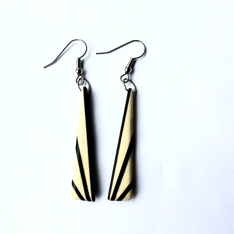 Deco Holly and Ebony Earrings