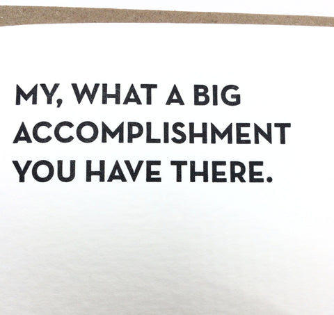 Accomplishment Card