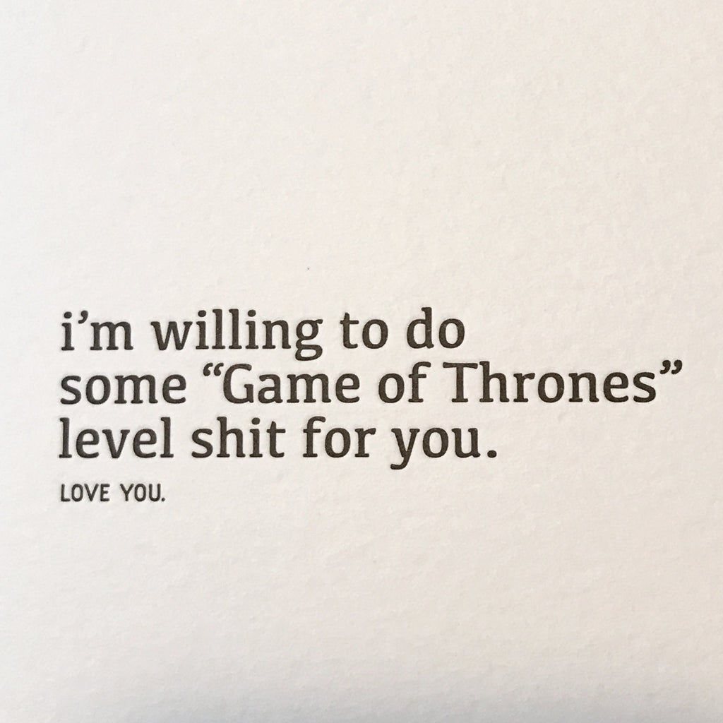 Game of Thrones Card