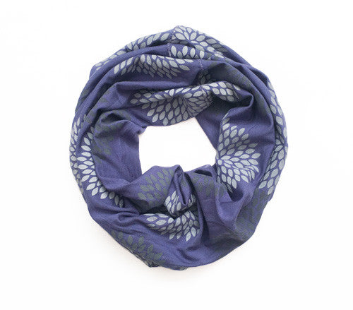Iris Screen Printed Infinity Scarf