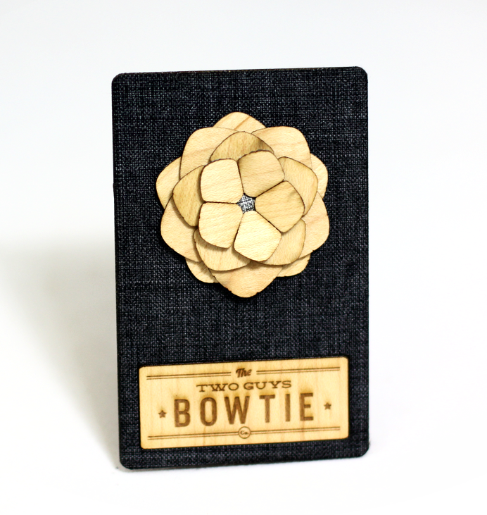 Lexington Wooden Lapel Flower
