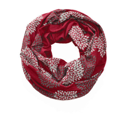 Ruby Screen Printed Infinity Scarf