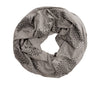 Grey Screen Printed Infinity Scarf