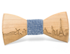 Paris Skyline Wooden Bow Tie