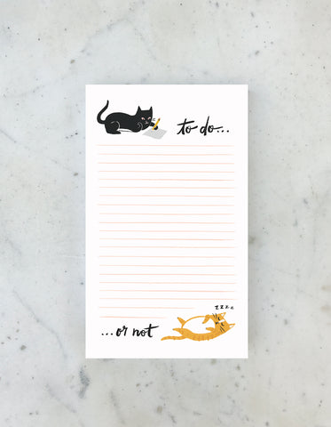 Cat To Do or Not Notepad