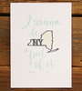 New York Letterpress Print