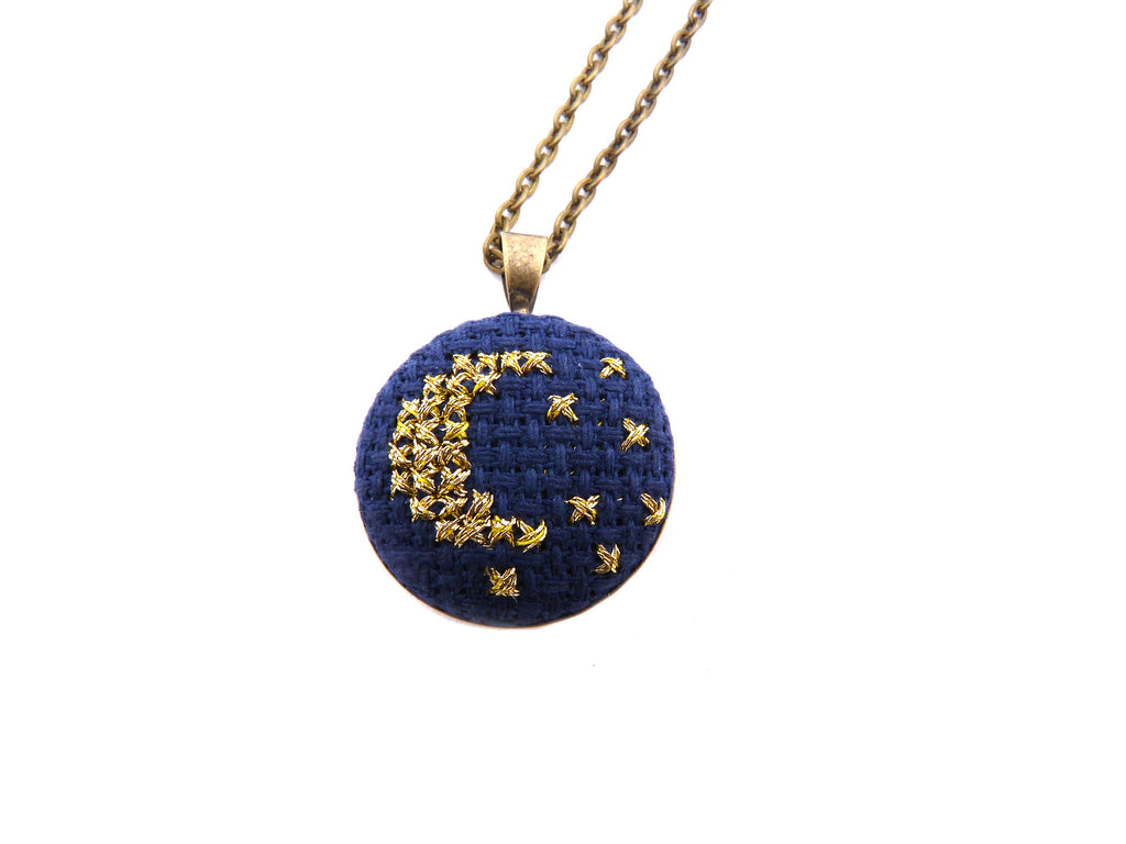 Petite Moon and Stars Necklace