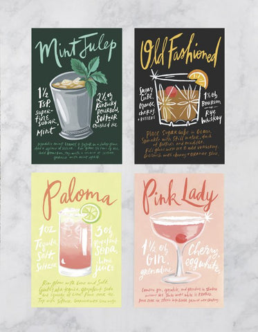 Cocktails Postcard Collection