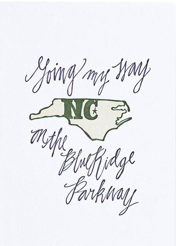 North Carolina Letterpress Print