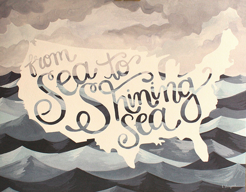 Sea to Shining Sea Print