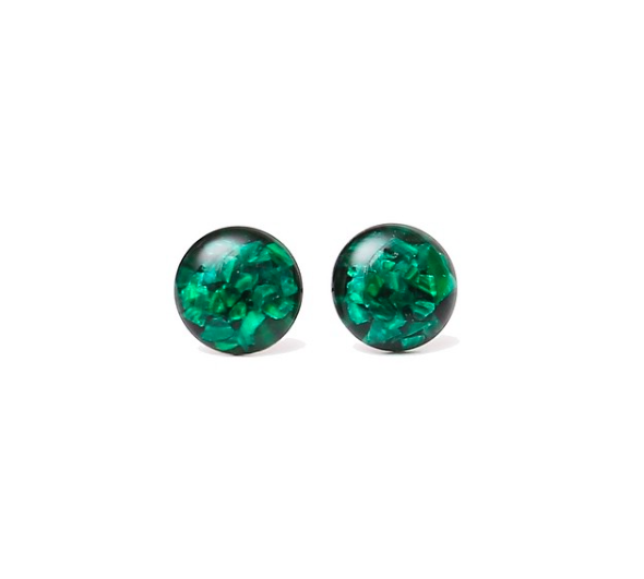 Malachite and Resin Studs
