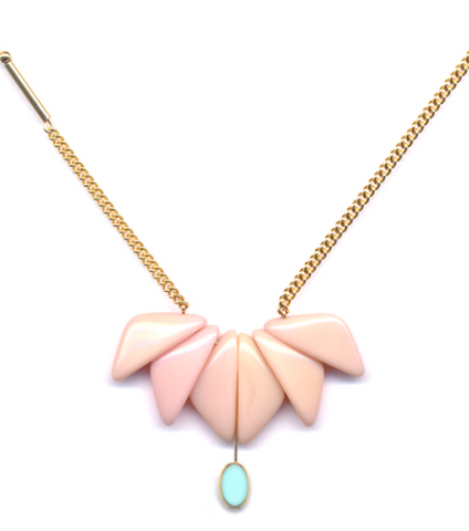 Pink Orchid Necklace