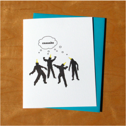 Zombie Birthday Card