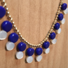 Cobalt and Mother of Pearl Necklace