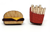Burger and Fries Stud Earrings