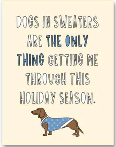 Dogs In Sweaters Card