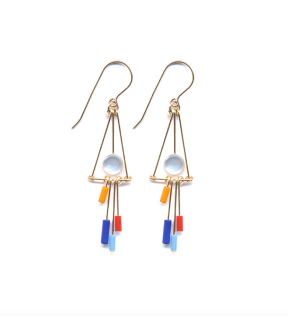 Mother of Pearl Fringe Earrings