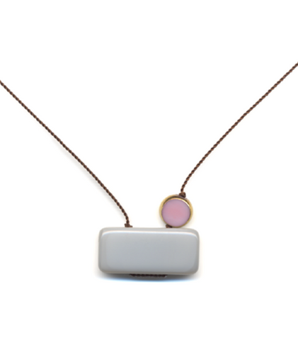 Cloudy with Pink Necklace