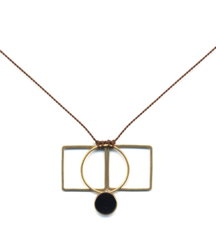 Circle Gets the Square Necklace