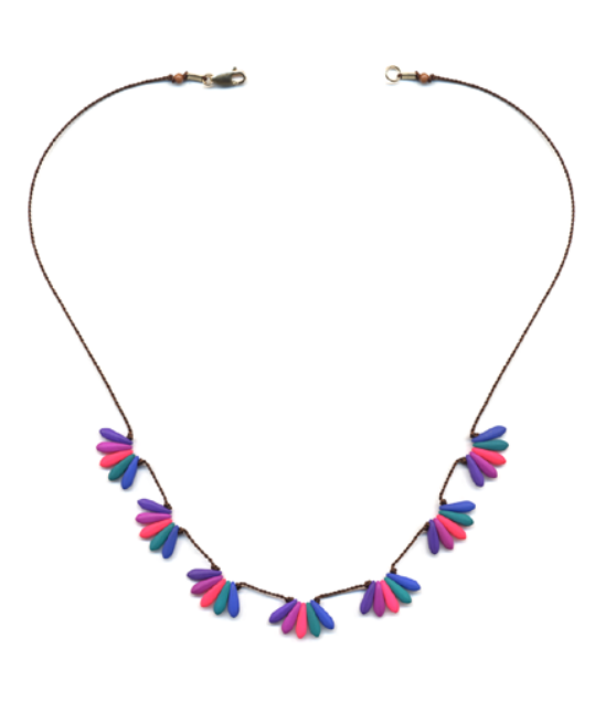 Neon Sweeps Necklace