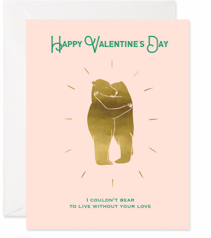 Bear Valentine Card