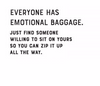 Emotional Baggage Card